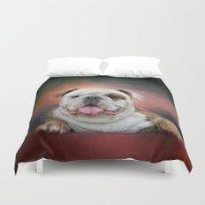 Hanging Out - Bulldog Duvet Cover