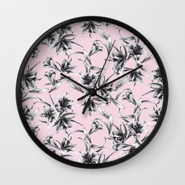 Lilium Pattern in rose Wall Clock