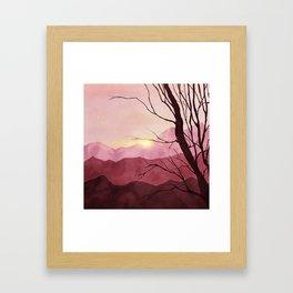 Sunset & landscape Framed Art Print