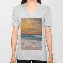 Navarre Beach Sunset Unisex V-Neck