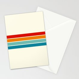 Fujinaga - Classic Timeless Retro Stripes Stationery Cards
