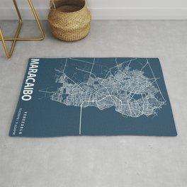 Maracaibo Blueprint Street Map, Maracaibo Colour Map Prints Rug