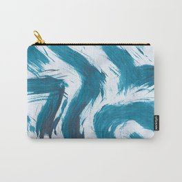 Snake Brush, Abstract, Blue Duck Carry-All Pouch