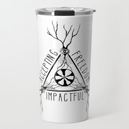 ACCEPTING - FREEDOM - IMPACTFUL Travel Mug