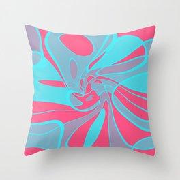 Blue Squabble Throw Pillow