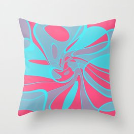 Blue Squabble Throw Pillow