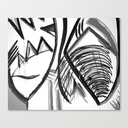 Abstract Dreams in black and white, pillow Canvas Print
