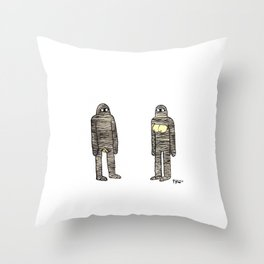 Mummies Throw Pillow