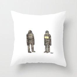 Mummies Throw Pillow