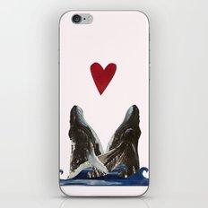 Whales in Love iPhone & iPod Skin