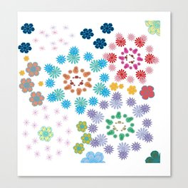 A Game of Flowers Canvas Print