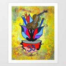 BLOOMING YOGA Art Print