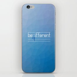 Be Different Typography Design iPhone Skin