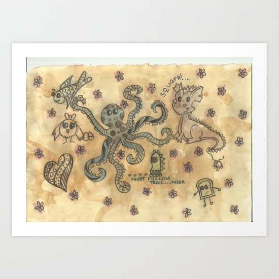 Silly Octopus Art Print