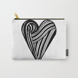 Geometric Heart Y Carry-All Pouch