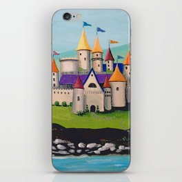 Kids Storybook Castle by the Water iPhone Skin