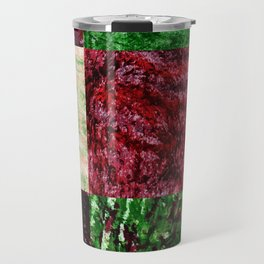 Patchwork color gradient and texture 2 Travel Mug