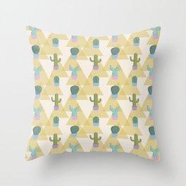 Cute Cacti Throw Pillow