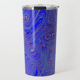 Blue Oil spill Travel Mug