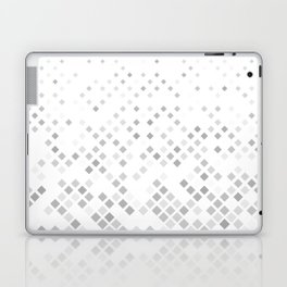 Grey square pattern background - vector illustration Laptop & iPad Skin