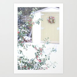 Christmas Garden Shed Art Print