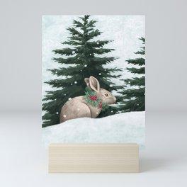 Winter Bunny Mini Art Print