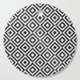 Black and white watercolor diamond pattern Cutting Board