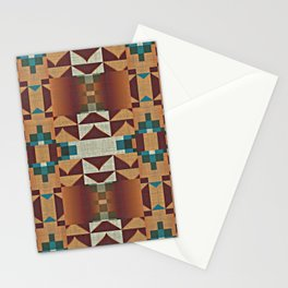 Native American Indian Tribal Mosaic Rustic Cabin Pattern Stationery Cards