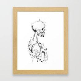 INK SKELETON Framed Art Print