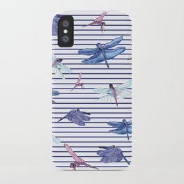 Dragonfly stripes iPhone Case