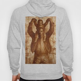 African-American Classical Masterpiece 'Black Father & Son, 1865' by Charles White Hoody
