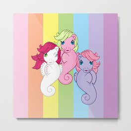 g1 my little pony sea ponies Metal Print