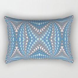Classic Psychedelic Retro Vortex Geometric Print Rectangular Pillow