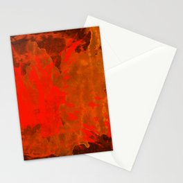 Mosaic Grunge in Orange Stationery Cards