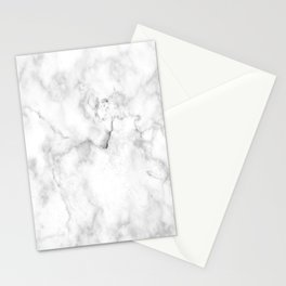 White marble decor Stationery Cards