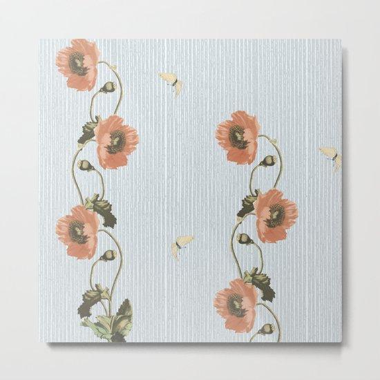 Poppy and stripe Metal Print