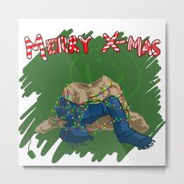 Baker Street Christmas Metal Print
