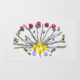 Spring flowers and branches III Rug