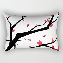 Cherry Blossom Geometric Rectangular Pillow