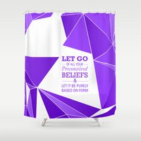 let it go Shower Curtains featuring Let Go by Roderick Moise
