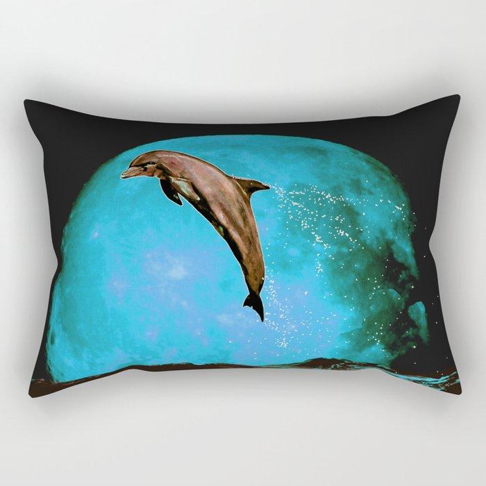 magician of seas - turquoise Rectangular Pillow