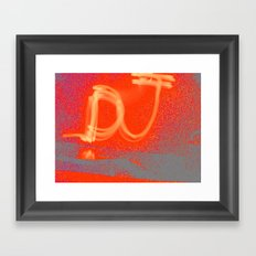 Light Graff: Dj Framed Art Print