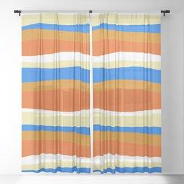 80's stripes Sheer Curtain