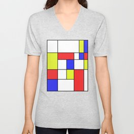 Mondrian #23 Unisex V-Neck