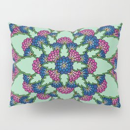 Pink and Blue Blooms Pillow Sham
