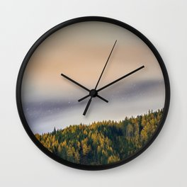 Stars and Larches Wall Clock