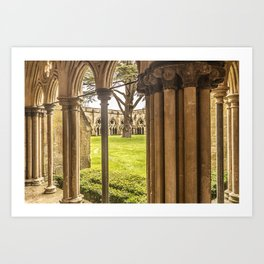 Cathedral Cloisters Art Print