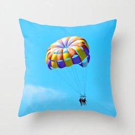 Parasailing Captiva Island Throw Pillow