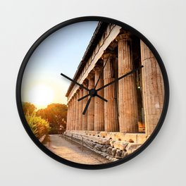 Sunset From the Temple Wall Clock