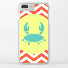 Seaside Crab - Cute Summer Accessories Collection Clear iPhone Case